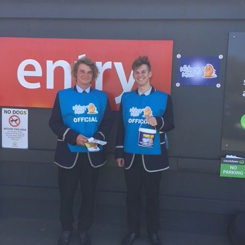 Kyle Burns (left) and Daniel Bosworth at Andersons Bay Countdown.