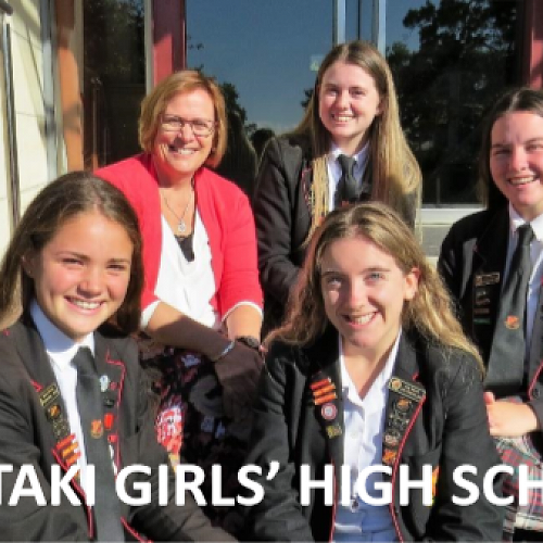 WGHS Principal and students. Open day flyer