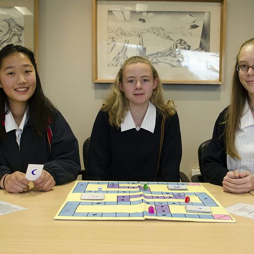 NZTA Future Transport competition winners: Kaile Qian, Georgia Walsh and Kayley Johnson