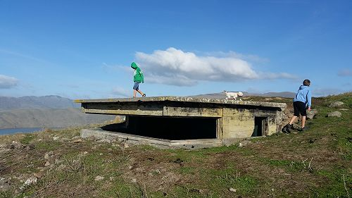 Jacob visited the gun emplacements in the Banks Peninsula