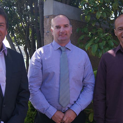 From left; Holger Korth (Guidance Counsellor), Aaron Everett (Assistant Principal) and Matiu Ratima (Te Reo Maori)