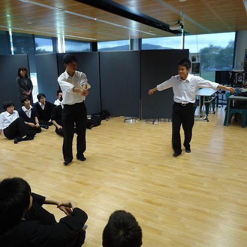 Ichikawa students during the Drama session - performance time.