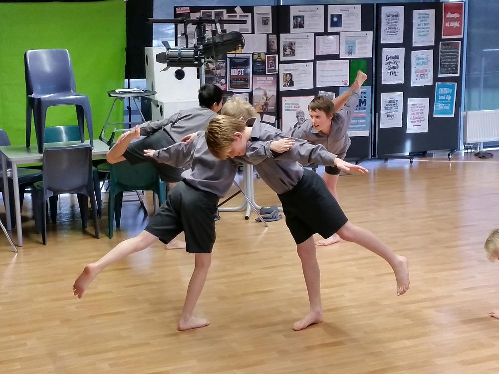 RNZB visit term #2 - with the Year 7 Drama class