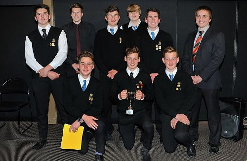 The Junior Rowing Squad after receiving the Junior Team of the Year Award.