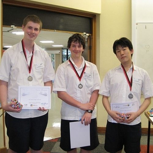 NZYPT - the team ofSamuel Gamble,Matthew Woermann andLeo Shin achieved second place.