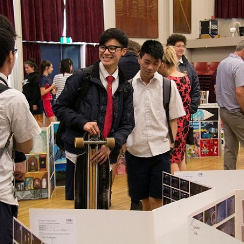 Jacob Ng (L3 Photography) and Andrew Zhong (L2 Photography) had their photography folios on display during the exhibition.