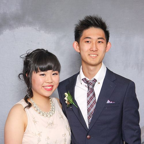 Josh Chung (South Korea) with Shana who attends Columba College and is from Hong Kong