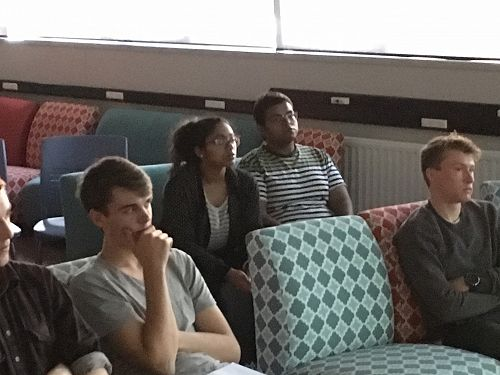 Curtis and Griffin on the first row with Rahul and