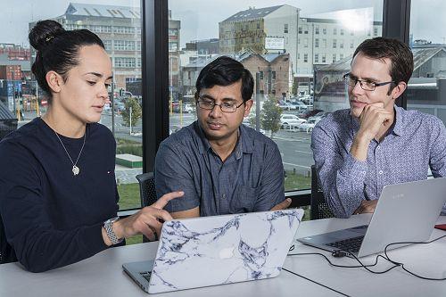Kiriana, Chetan and Arthur hard at work at SIGNAL
