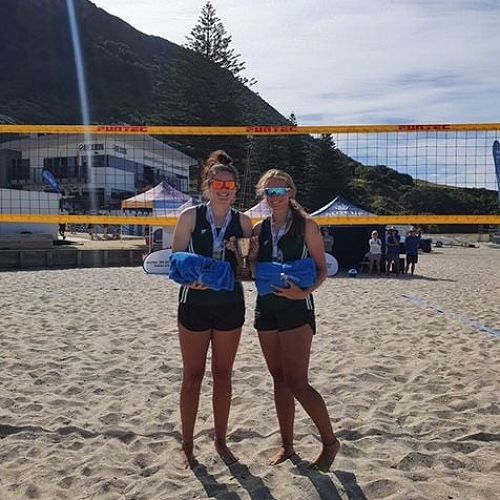 Rosa Vesty & Taylah Holdem - NZSS Beach Volleyball Champions 2021