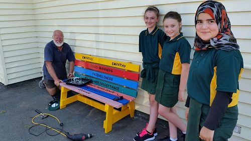 Buddy Benches for local schools created