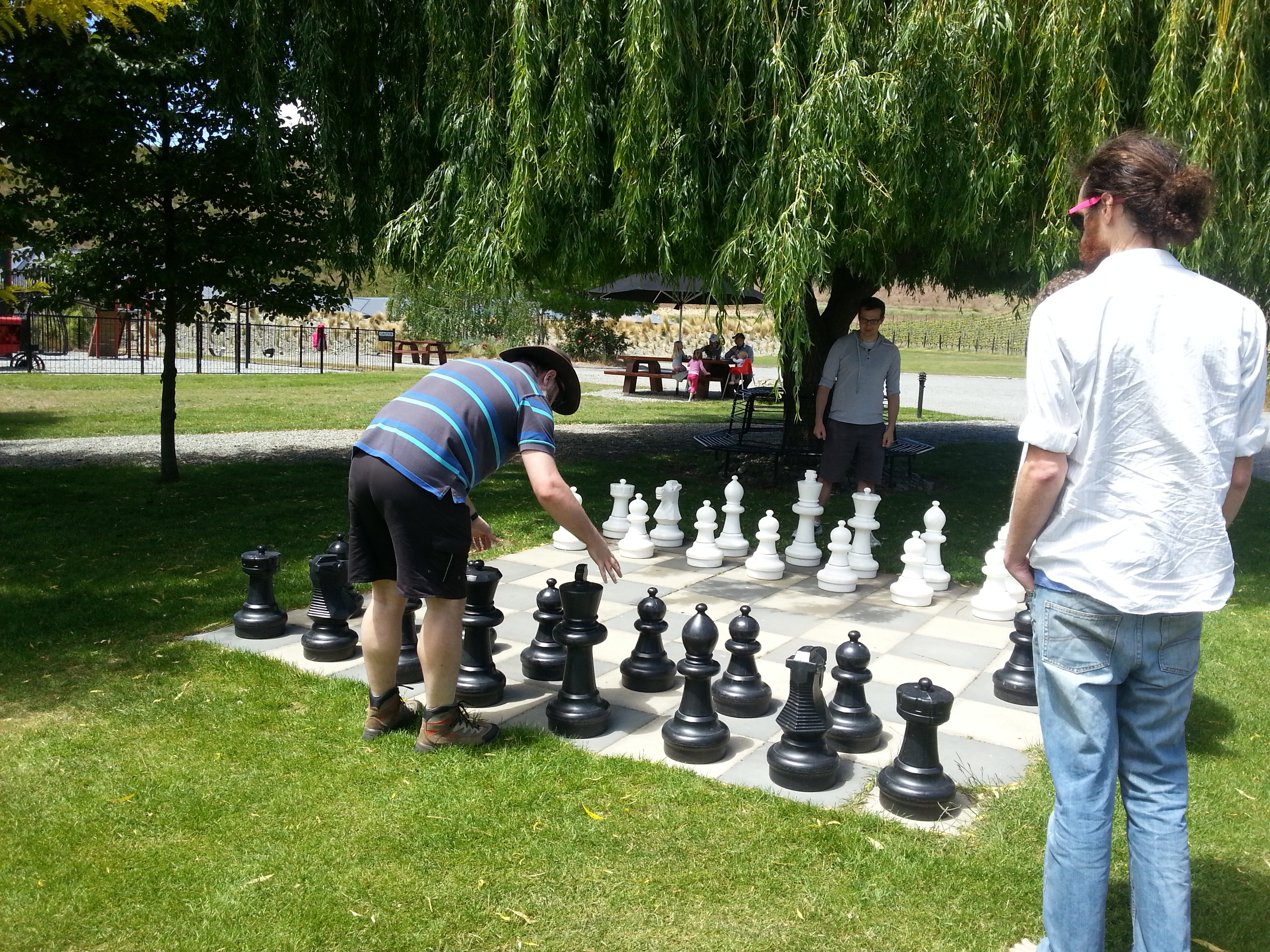 Chess in the sunshine