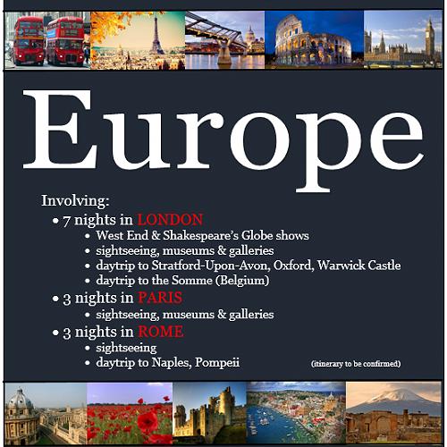 Humanities Trip to Europe July 2018
