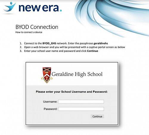 Geraldine High School BYOD Connection