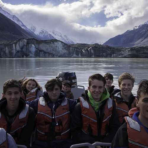 Year 12 geography Mt Cook field trip.
