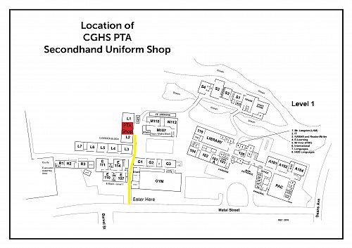 Location of CGHS PTA Secondhand Uniform Shop January 2020