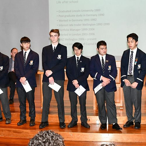 School Hand Ball teams receive their awards