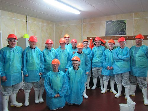 PIA students at Silver Fern Farms visit