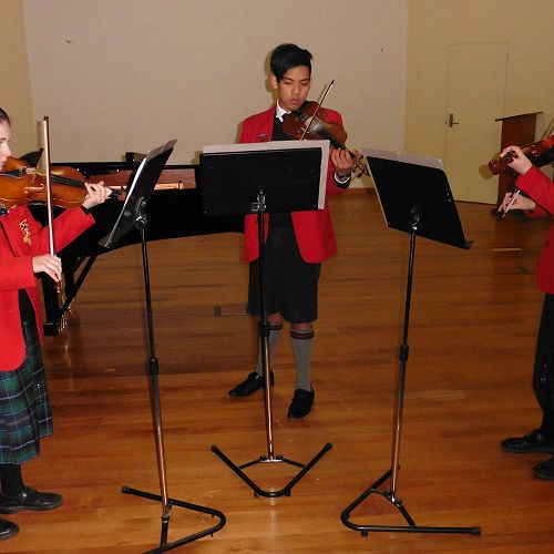 Emily, Daeniel and Emma perform