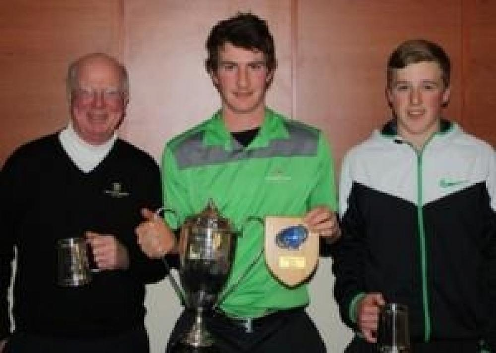 Kyle Clark pictured with club mates after Balmacewen taking out the Otago Golf Champion of Champions.