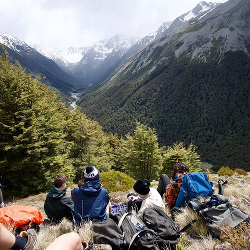 Year 10 camp - tramping up the South Temple valley