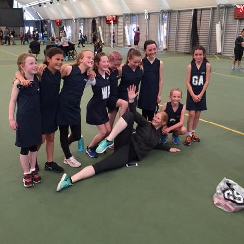 Erin & her Netball girls