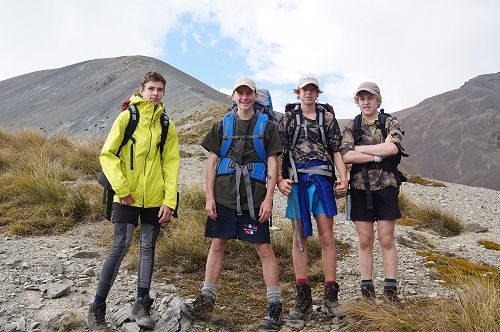 Tom, Tu, Gabe and Billy - the speedy 'mountain goa