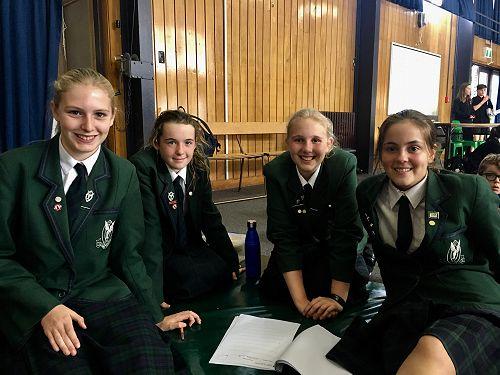 Year 8 team - Olivia Thorn, Catherine Lund, Skyla Murray, Charlotte Milne