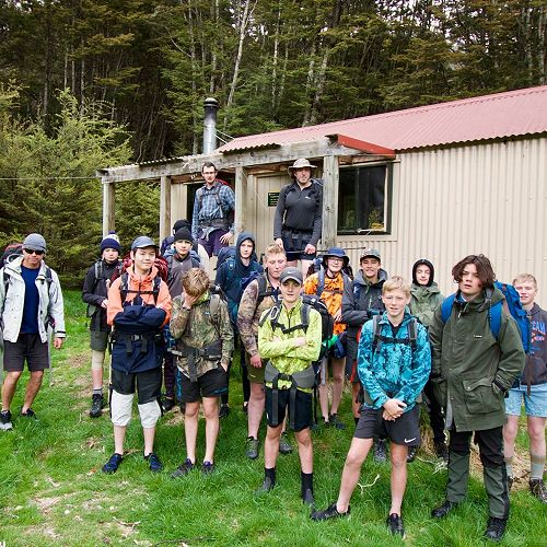 10 AKA at South Temple valley hut - Year 10 camp 2018