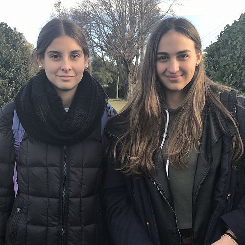 Argentinian exchange students Sofia and Candelaria