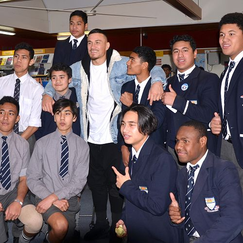 Sonny Bill Williams visit