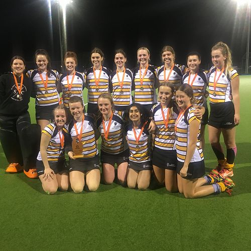 First XI Girls Hockey team - winners of Midlands inter-secondary school girls division 2 final 2018.