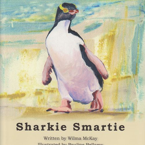 Recently published local storybook written and illustrated by local women who admired this plucky Yellow-Eyed Penguin.
