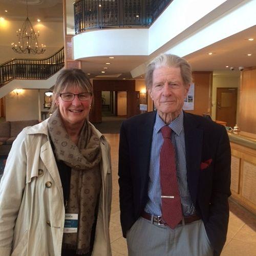 Ms Pru Casey with DrJohn Gurdon