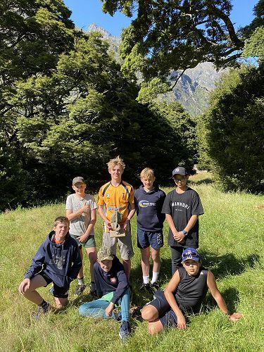 Group 3 pose as winners of the Matukituki Trophy