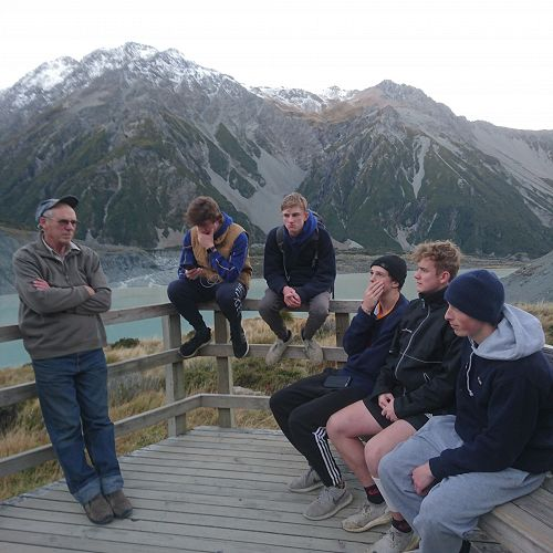 Keen Year 12 Geographers hang on every word of wisdom from Mr Campbell