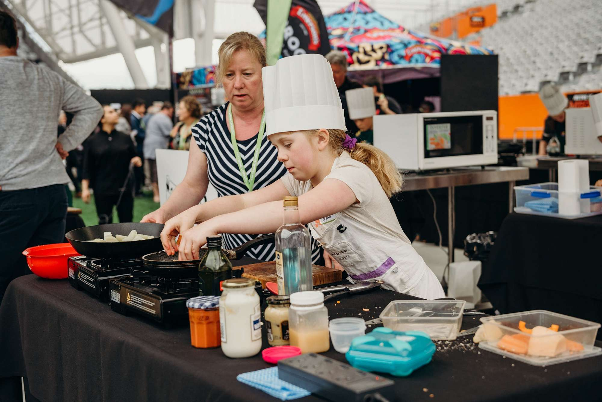 The competition was hot in Kiwi Kids Can Cook