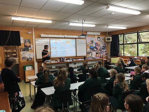 Professor Dearden talks about the genetics of bee populations to the GATE Science Club.