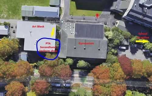 Location of the PTA secondhand uniform shop