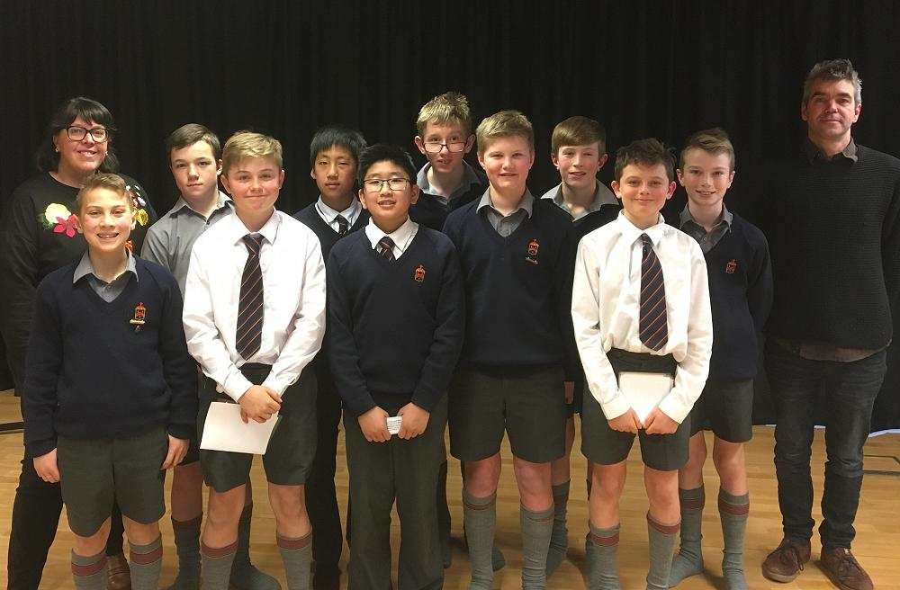 Year 7 & 8 Prepared Speech Finalists and Judges 2019