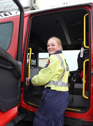 Tiffany Lineham at the Timaru Fire Service