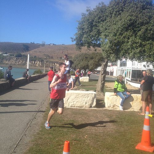 Nic Taylor completes the run leg to secure second position for the Senior A team