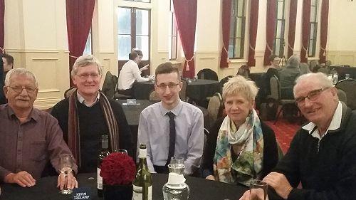 From left, Kevin Ireland (Poet), Tony Eyre, James