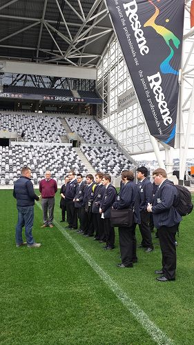 Year 13  Tourism Students visit Forsyth Barr Stadium researching significant events held in Dunedin City