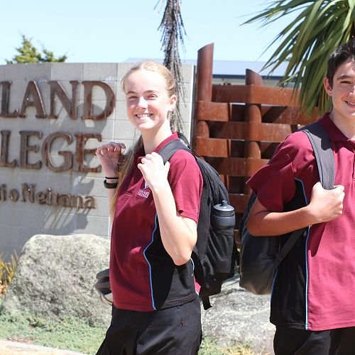 Louise Gridley and Oliver Patel are just two of the 300 new year nine students at Nayland College this year. :