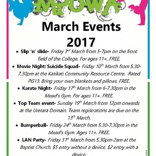 MPOWA | March Events