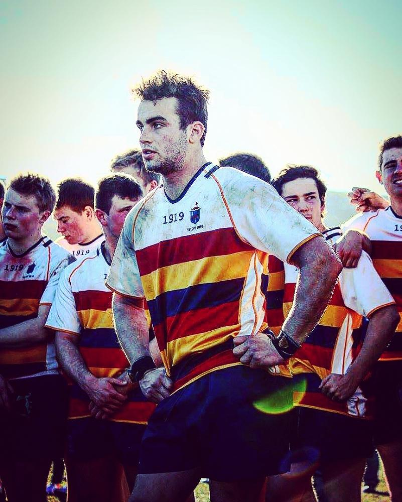 Rory Ferguson (Captain and No. 8) leads the 1st XV team to an historic victory over Otago Boys High School