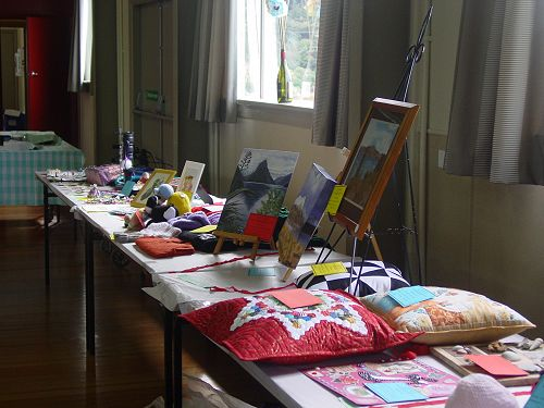 Craft entries at Eisteddfod Competition Day