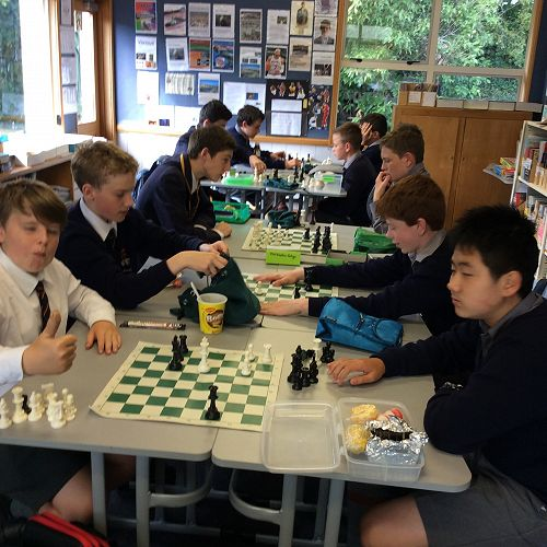 The Chess Club in full swing at lunchtime