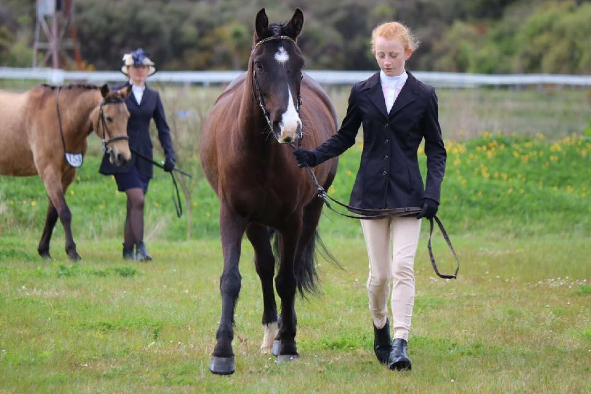 RDA Pony Moe and Mikayla Smith of Hokitka In Hand Showing